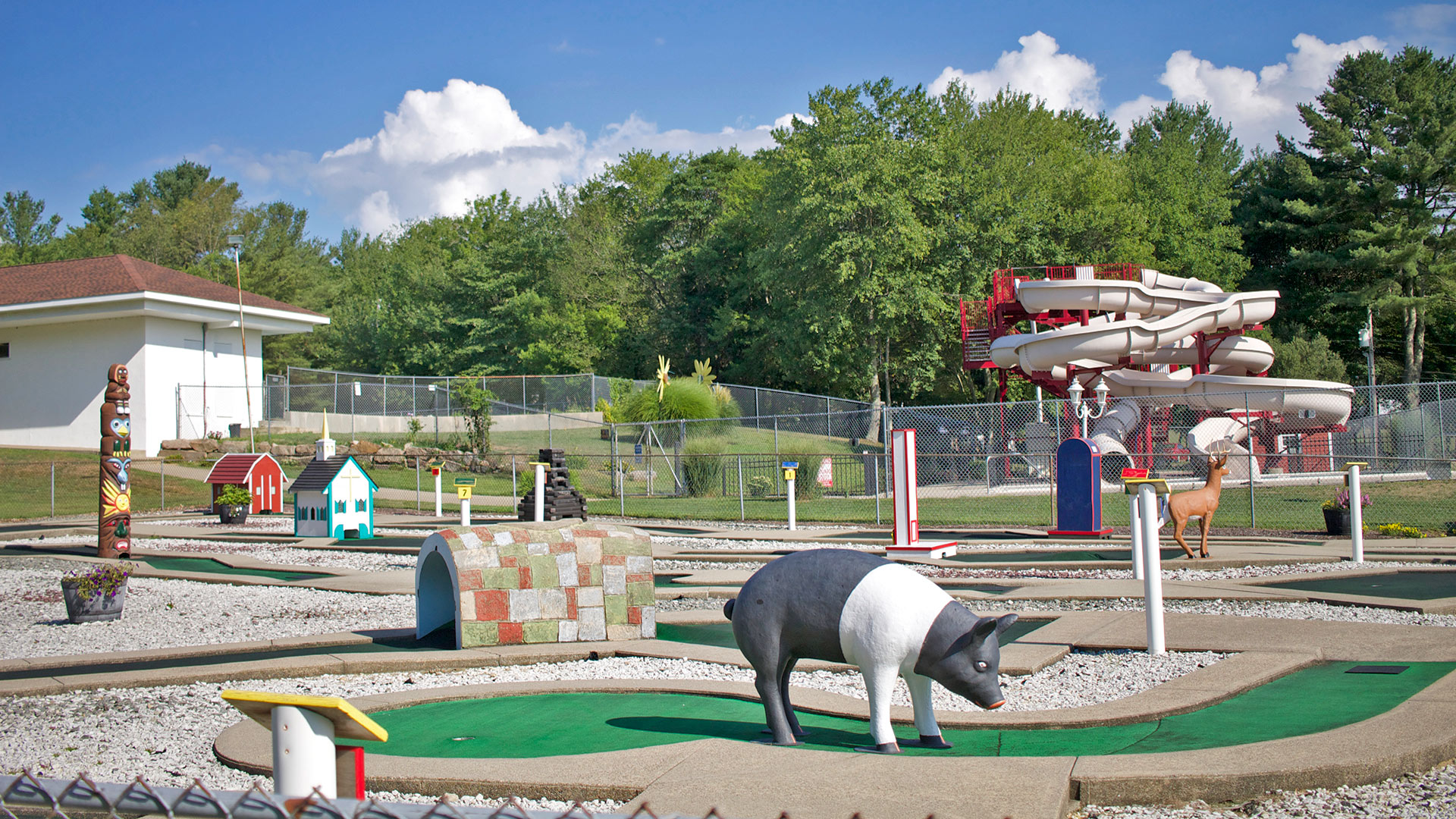 Mini Golf with Waterslides